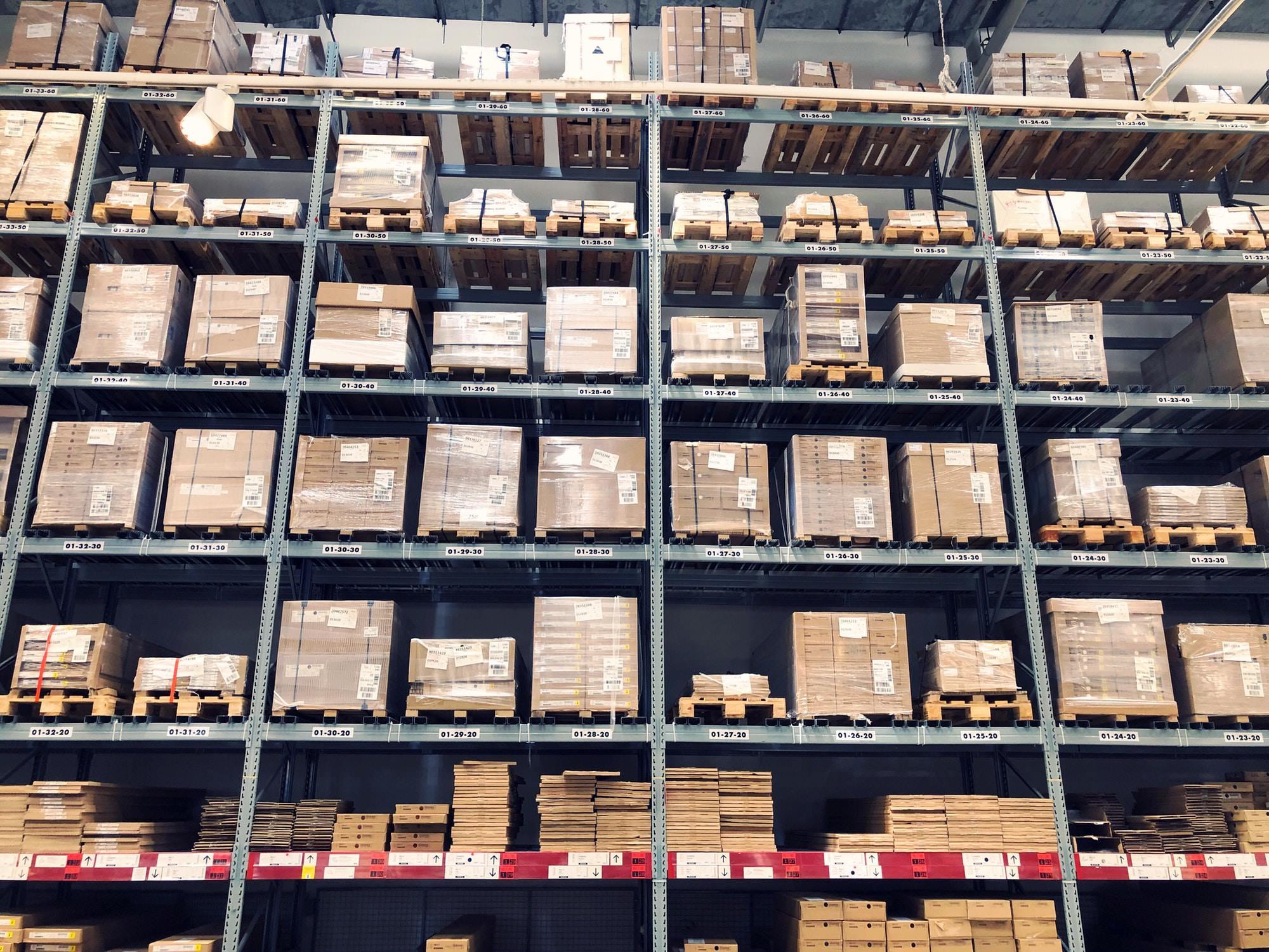 IKEA self-service storage shelves